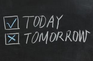 Chalkboard drawing - Today or Tomorrow