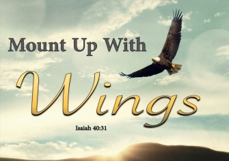 Isaiah 40-31 Those Who Trust In The Lord Will Soar On Eagles Wings aqua