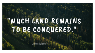 Much land remains to be conquered