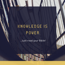 Just read your Bible